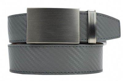 "Nexbelt Belt Grey / Fits up to 45"" waist Fast Eddie Smoke Grey Carbon Ratchet Golf Belt"