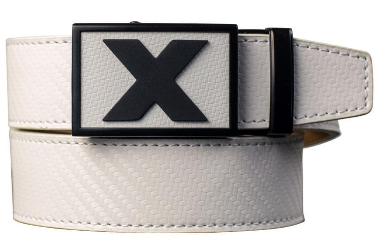 "Nexbelt Golf Belt White / Fits up to 45"" waist Fast Eddie Vie Golf Belts"
