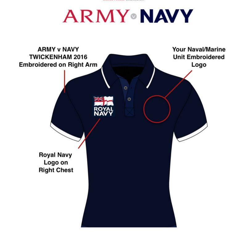 ARMY V NAVY Performance Polo On Sale NOW! 'NAVY'