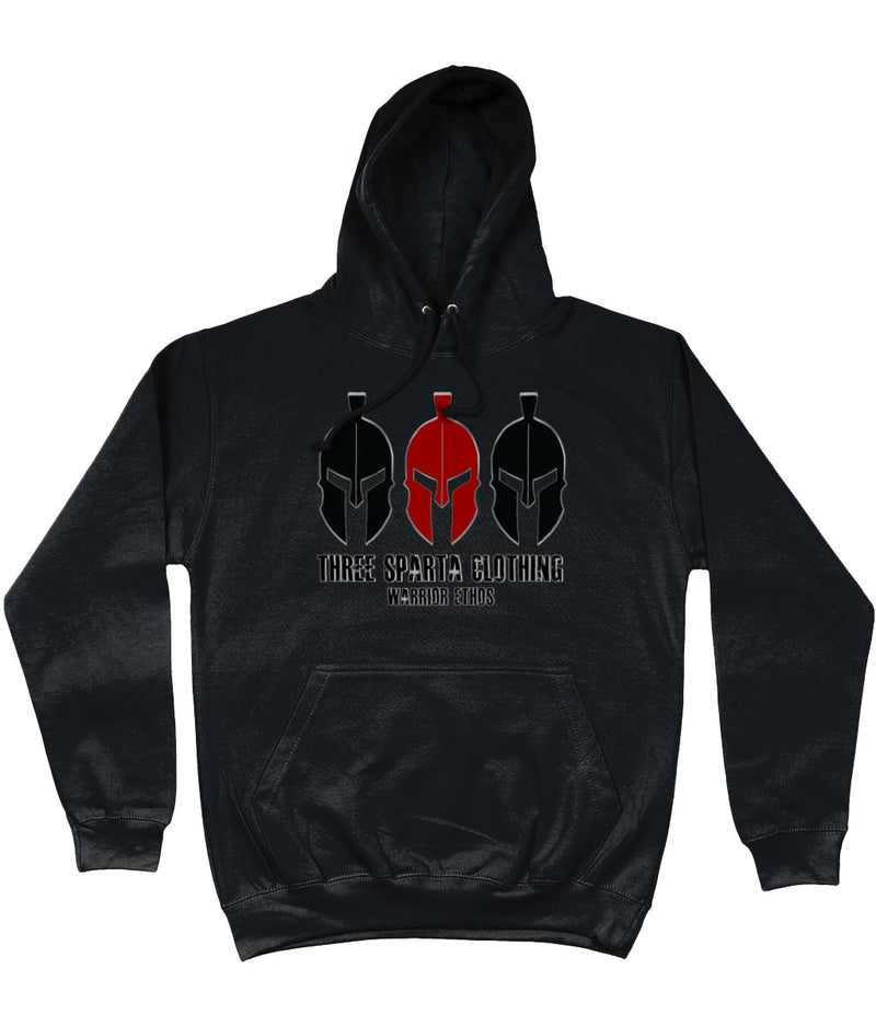 THREE SPARTA WARRIOR ETHOS MILITARY FRONT PRINTED HOODIE