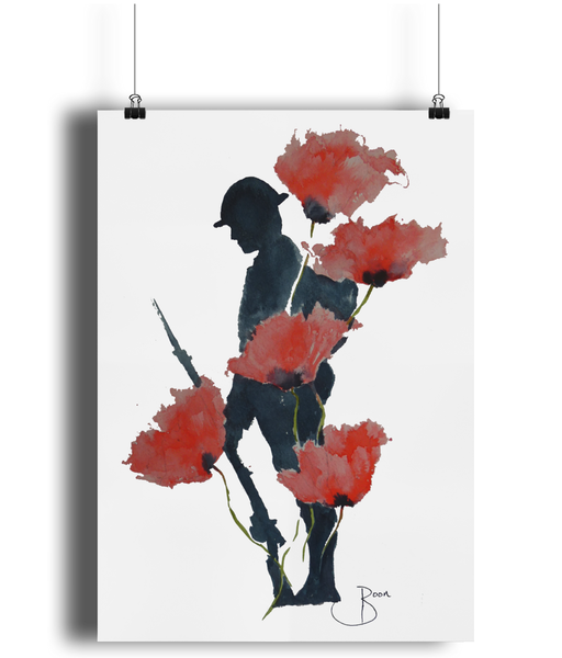 WW1 Remembrance Tommy Fine Art Bamboo Print