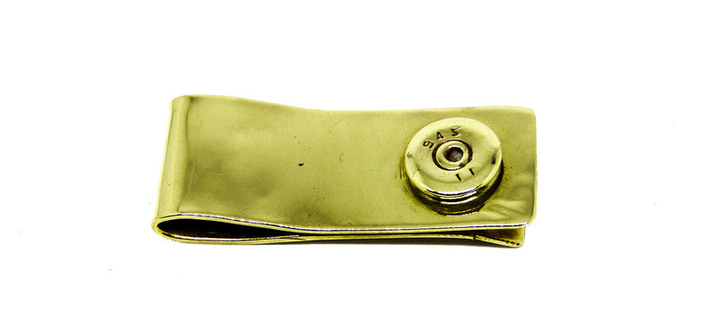 Chunky Brass Recycled Bullet Money Clip
