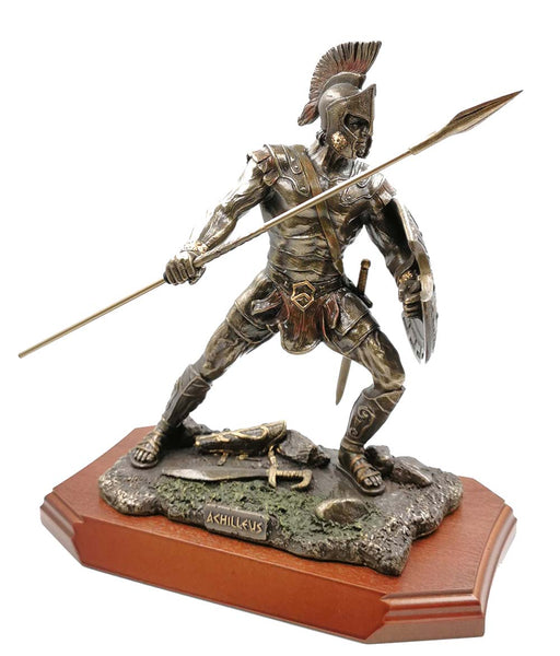 Achilles (Achilleus) Greek Warrior Cold Cast Bronze Statue