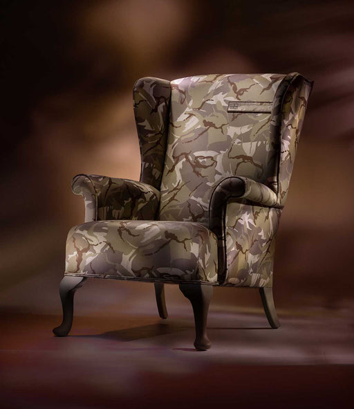 THE ARMY DESERT CAMO WING CHAIR