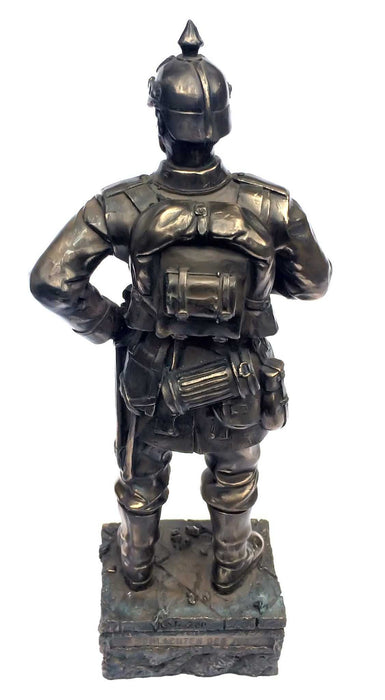 WW1 German Soldier Bronze Statue