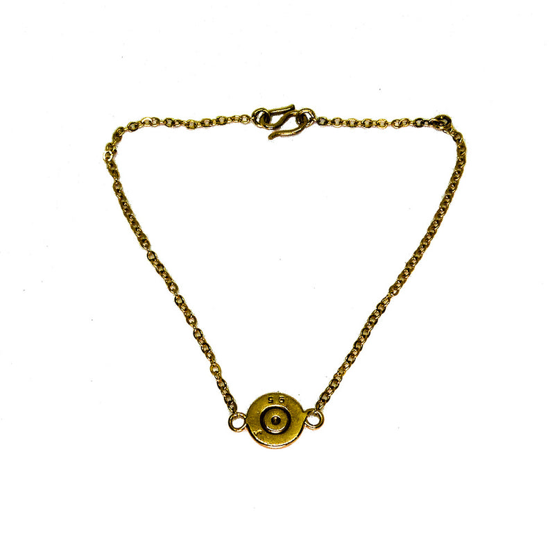 Unisex Hand Made Gold Plated Bullet Bracelet