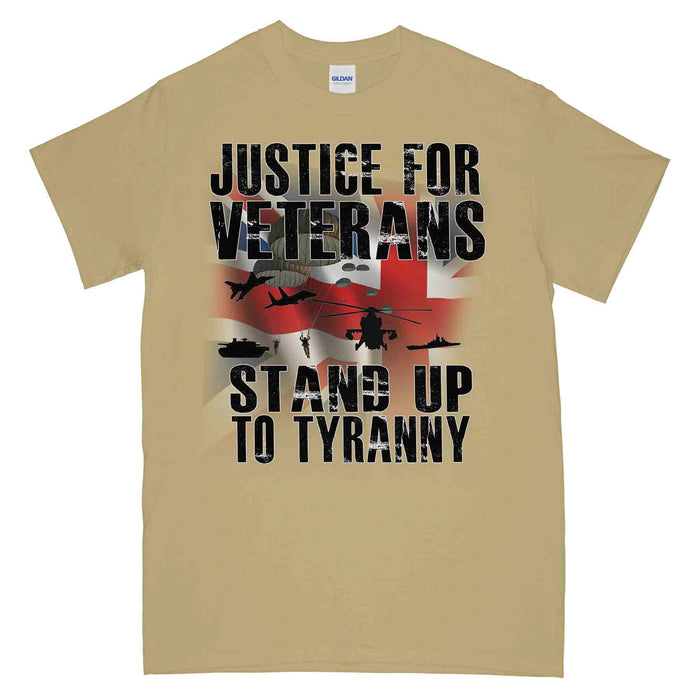 JUSTICE FOR VETERANS - STAND UP TO TYRANNY Printed T-Shirt