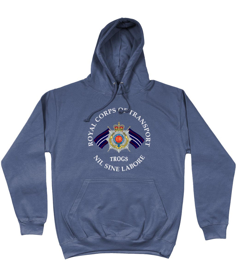 ROYAL CORPS OF TRANSPORT TROGS FRONT PRINTED HOODIE