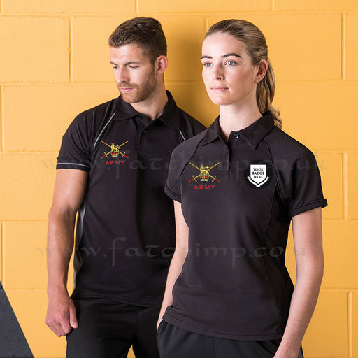 British Army UNITS Special Edition Performance Polo Shirt (Male and Female Fit)