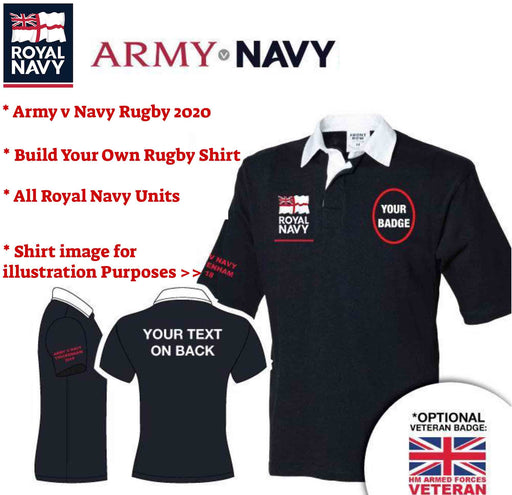 Royal Navy Army V Navy 2020 Short Sleeve Rugby Shirt