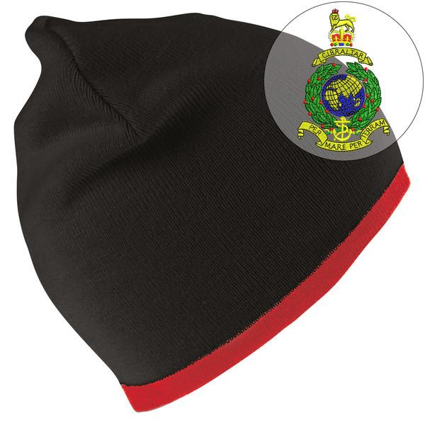 Beanie Hat - Royal Marines Commando Embroidered Beanie