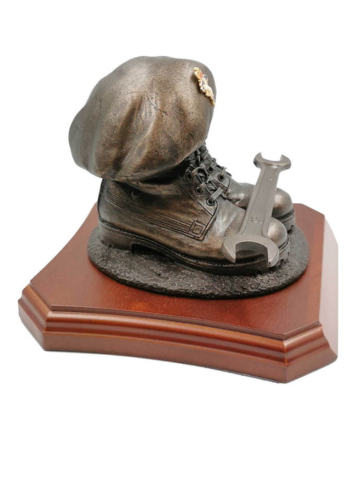 REME Boots and Beret with Spanner Cold Cast Bronze Statue