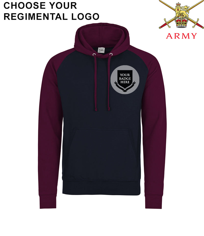 British Army UNITS Regimental Baseball Hoodie