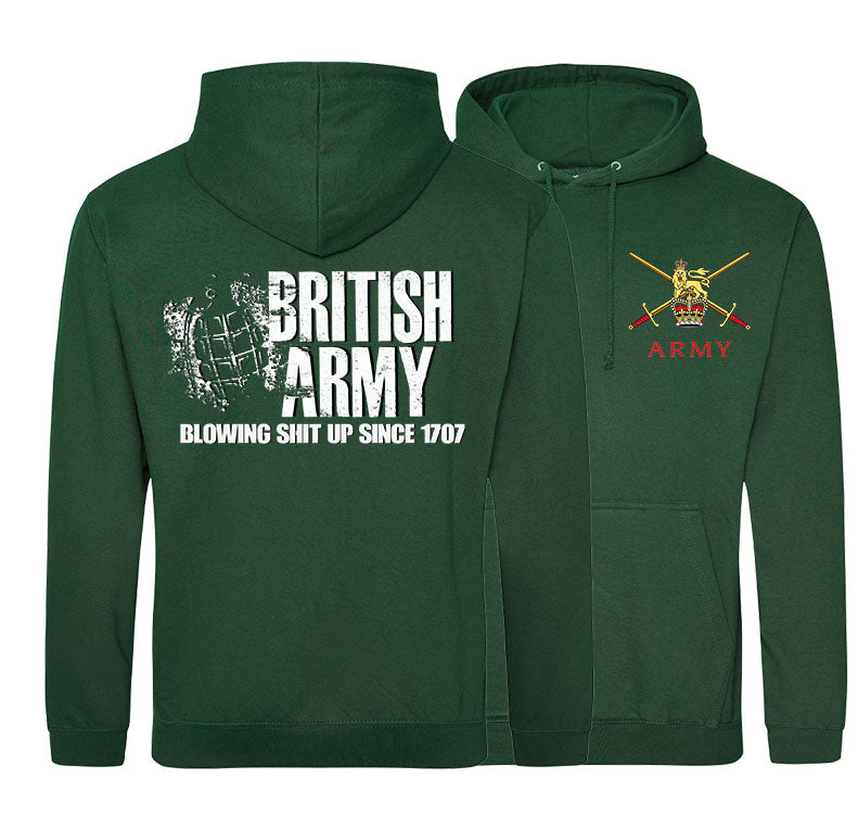 BRITISH ARMY Blowing Shit Up Since 1707 Double Side Printed Hoodie