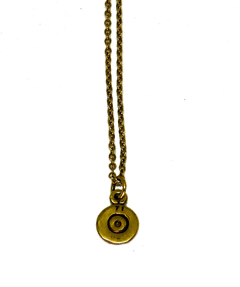 UNISEX GOLD PLATED BULLET pendant and chain