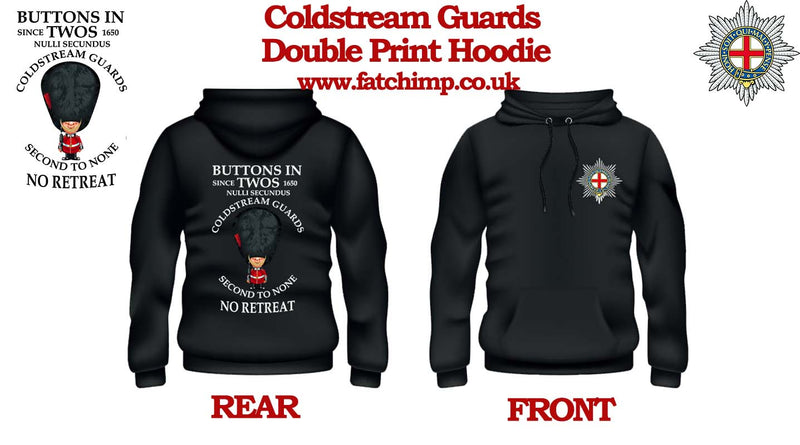 COLDSTREAM GUARDS Buttons In One's Double Side Printed Hoodie