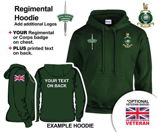 Hooded Sweatshirt - Royal Marines Units Hoodie