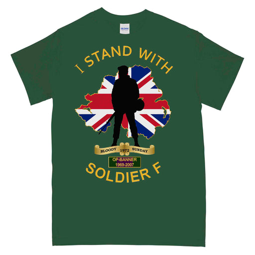 I Stand With Soldier F Embroidered Zipped Hoodie Parachute Paratrooper Top