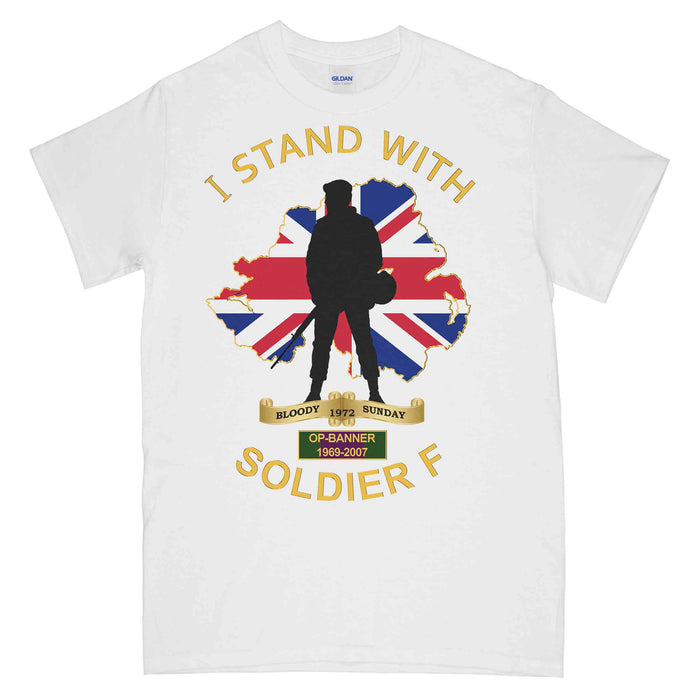 I STAND WITH SOLDIER F Printed T-Shirt