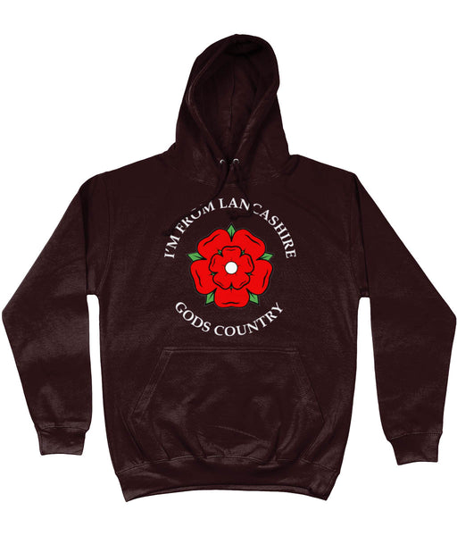 I'M FROM LANCASHIRE God's Country FRONT PRINTED HOODIE