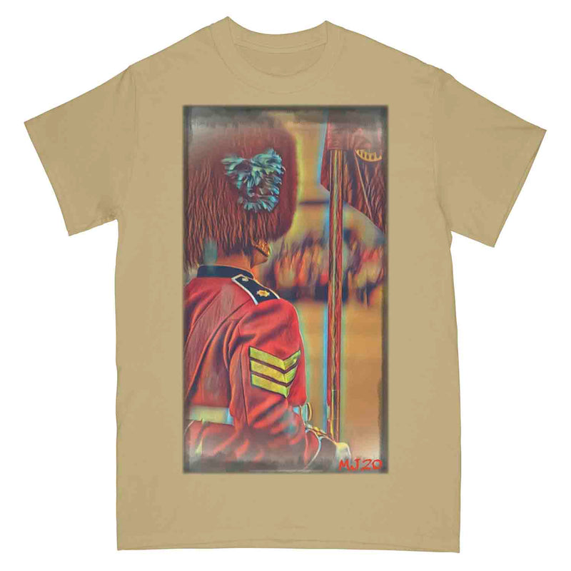 IRISH GUARDS On Parade Guardsman Art Printed T-Shirt