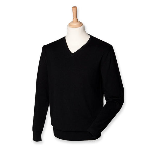 Jumper - Regimental Lightweight Cotton Acrylic V Neck Sweater