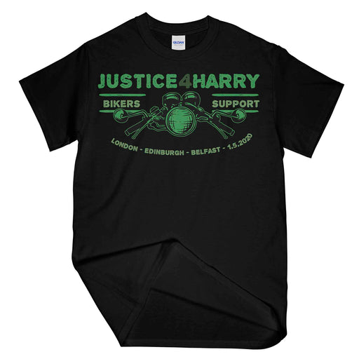 Justice For Harry Biker Printed T-Shirt