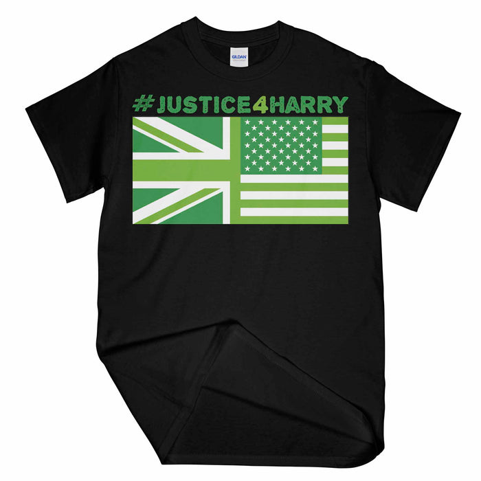 Justice For Harry Union Flag Printed Unisex T-Shirt