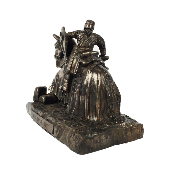 Knights Templar on Horse Bronze Statue