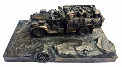 Long Range Desert Group Chevrolet Bronze Statue
