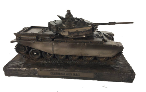 Military Statue - Centurion Mk5 Main Battle Tank Cold Cast Bronze Military Statue