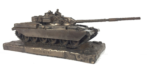 Military Statue - Chieftain Mark 5 Main Battle Tank Cold Cast Bronze Statue