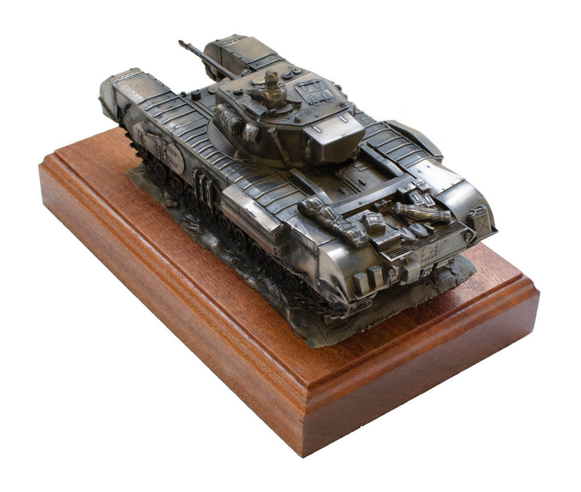 Military Statue - Churchill Tank Cold Cast Bronze Military Statue