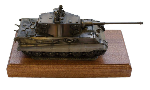 Military Statue - German King Tiger 2 Cast Bronze Tank