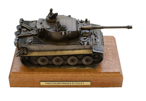 Military Statue - German Tiger 1 Tank Bronze Military Statue