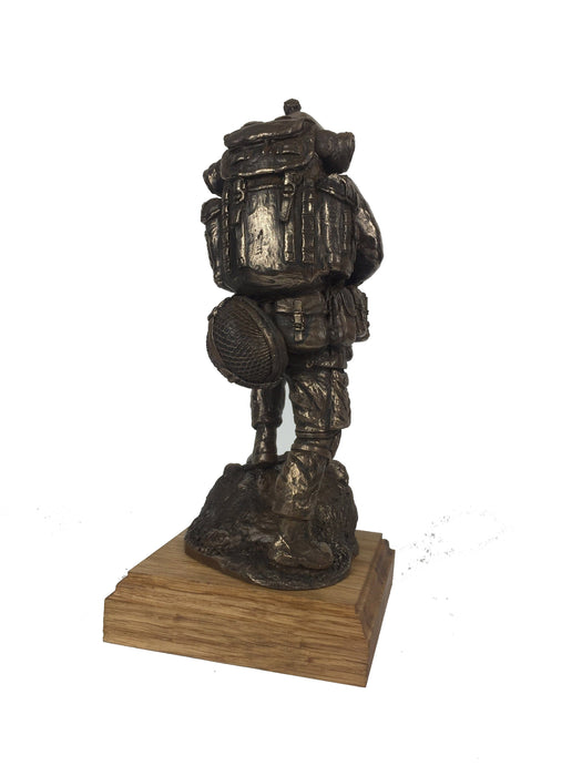 Military Statue - Royal Irish Ranger SA80 Caubeen Cold Cast Bronze Military Statue Sculpture