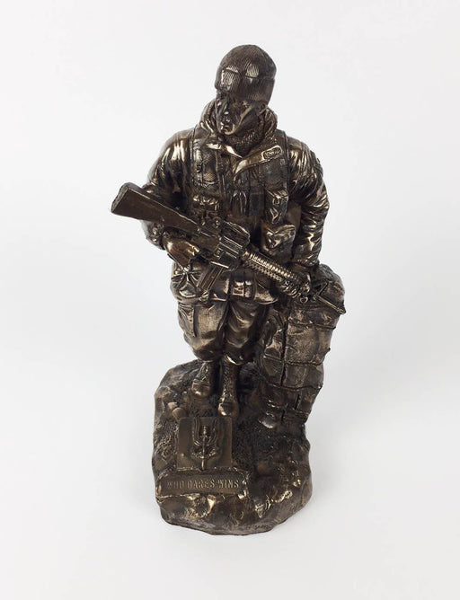 Military Statue - SAS Trooper Soldier Cold Cast Bronze Military Statue