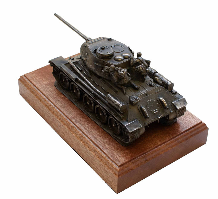 Military Statue - T-34 Medium Tank Cold Cast Bronze Military Statue Sculpture