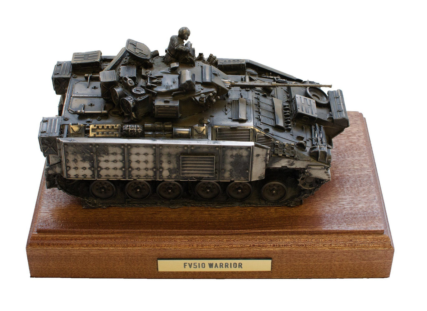 Military Statue - Warrior FV510 Infantry Fighting Vehicle Cold Cast Bronze Statue