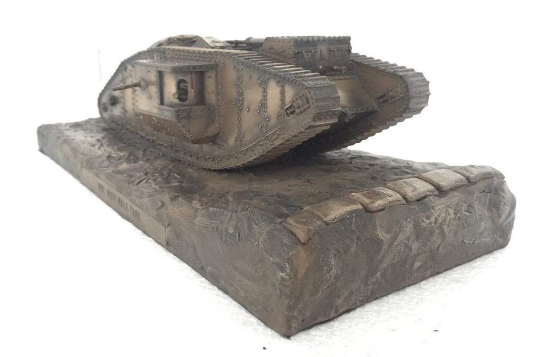 Military Statue - World War One Mark IV Male Tank Cold Cast Bronze Statue