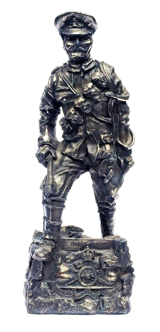 Military Statue - WW1 Horse Gunner Cold Cast Bronze Military Statue Sculpture