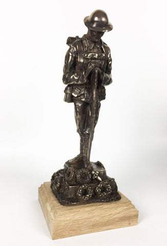 Military Statue - WW1 Remembrance Tommy Cold Cast Bronze Military Statue Sculpture