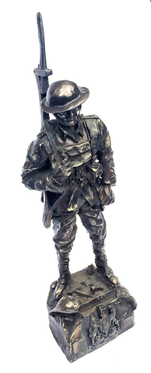 Military Statue - WW1 Tommy Cold Cast Bronze Military Statue Sculpture