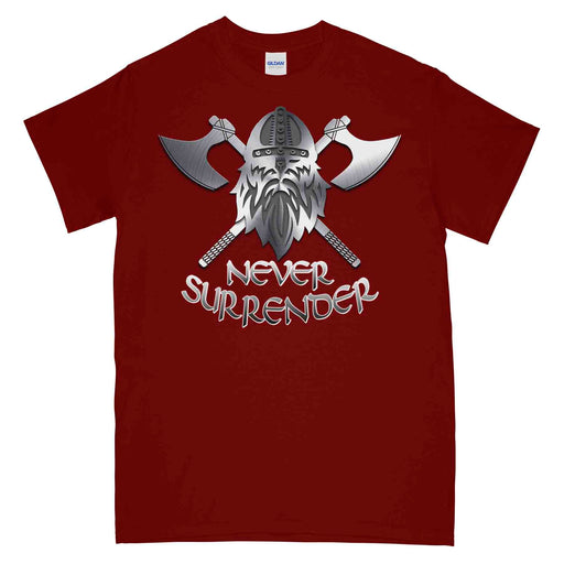 NEVER SURRENDER AXE Printed T-Shirt