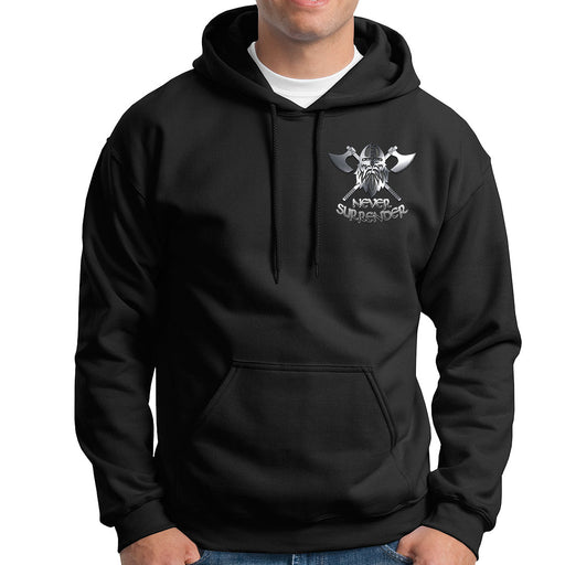 NEVER SURRENDER Embroidered Hoodie