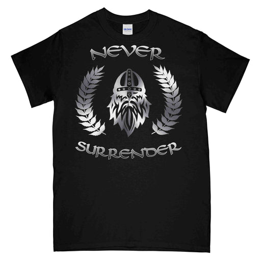 NEVER SURRENDER LAUREL REAF Printed T-Shirt