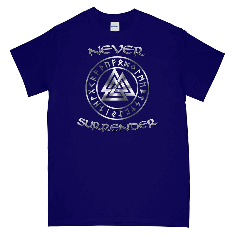NEVER SURRENDER VALKNUT Printed T-Shirt