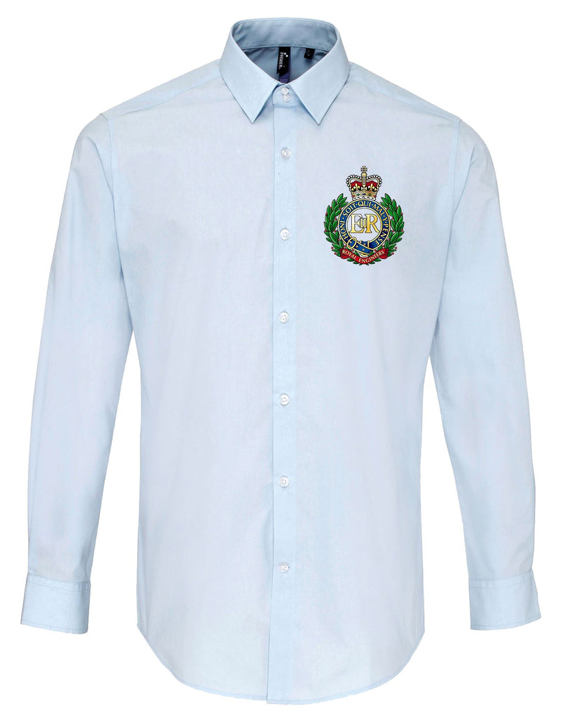 Oxford Dress Shirt - ARMED FORCES ARMY NAVY RAF Embroidered Long Sleeve Oxford Shirt