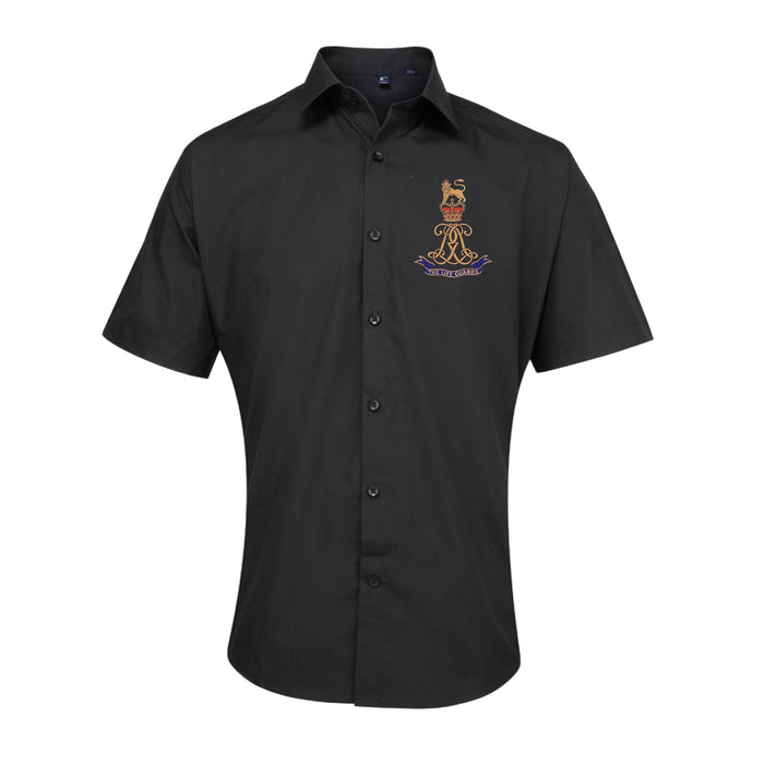 Oxford Dress Shirt - ARMED FORCES ARMY NAVY RAF Embroidered Short Sleeve Oxford Shirt