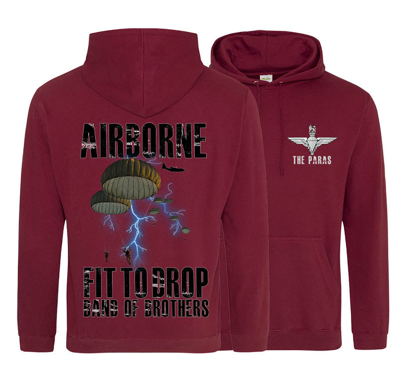 The Paras Fit To Drop Double Side Printed Hoodie